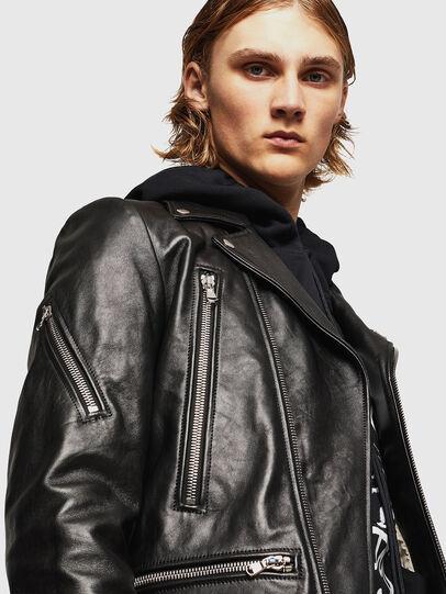 Diesel - L-PERF, Noir - Vestes de cuir - Image 5