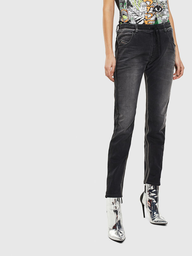 Krailey JoggJeans 0094Q, Noir/Gris foncé - Jeans