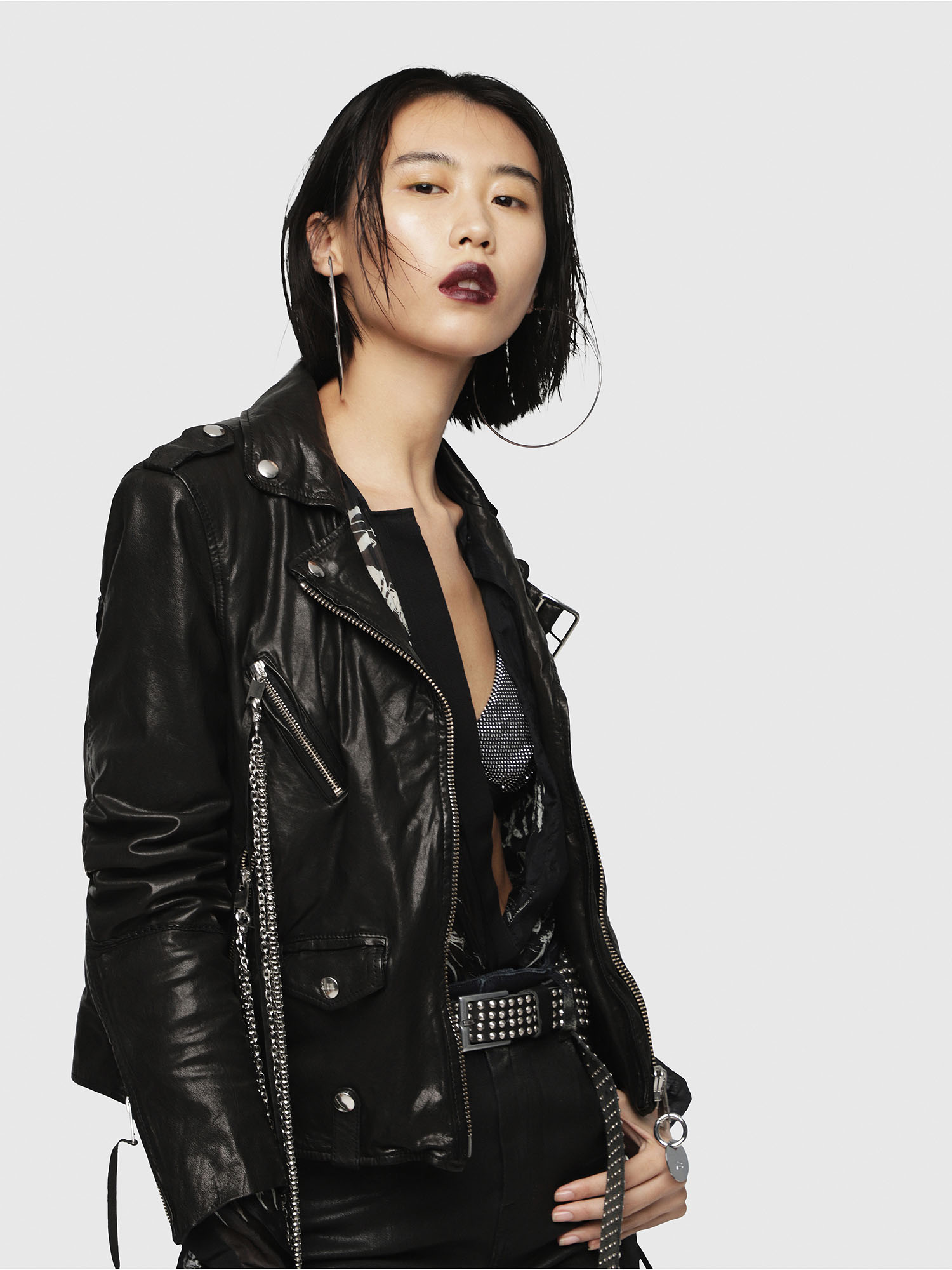 Diesel - L-TERRY-B,  - Leather jackets - Image 3