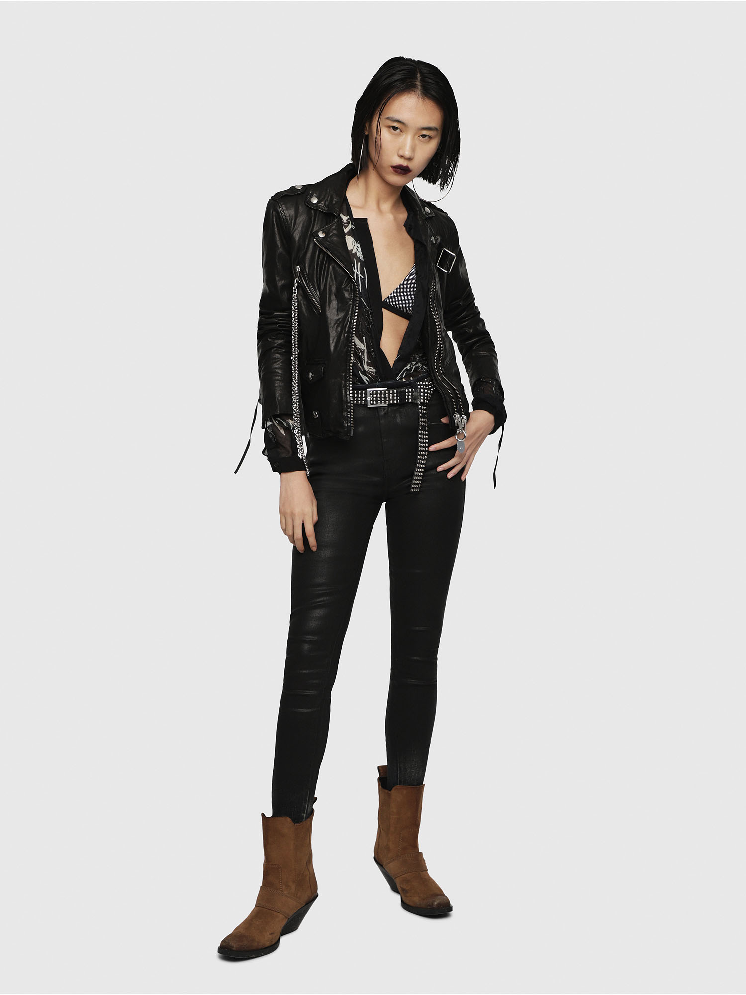 Diesel - L-TERRY-B,  - Leather jackets - Image 6