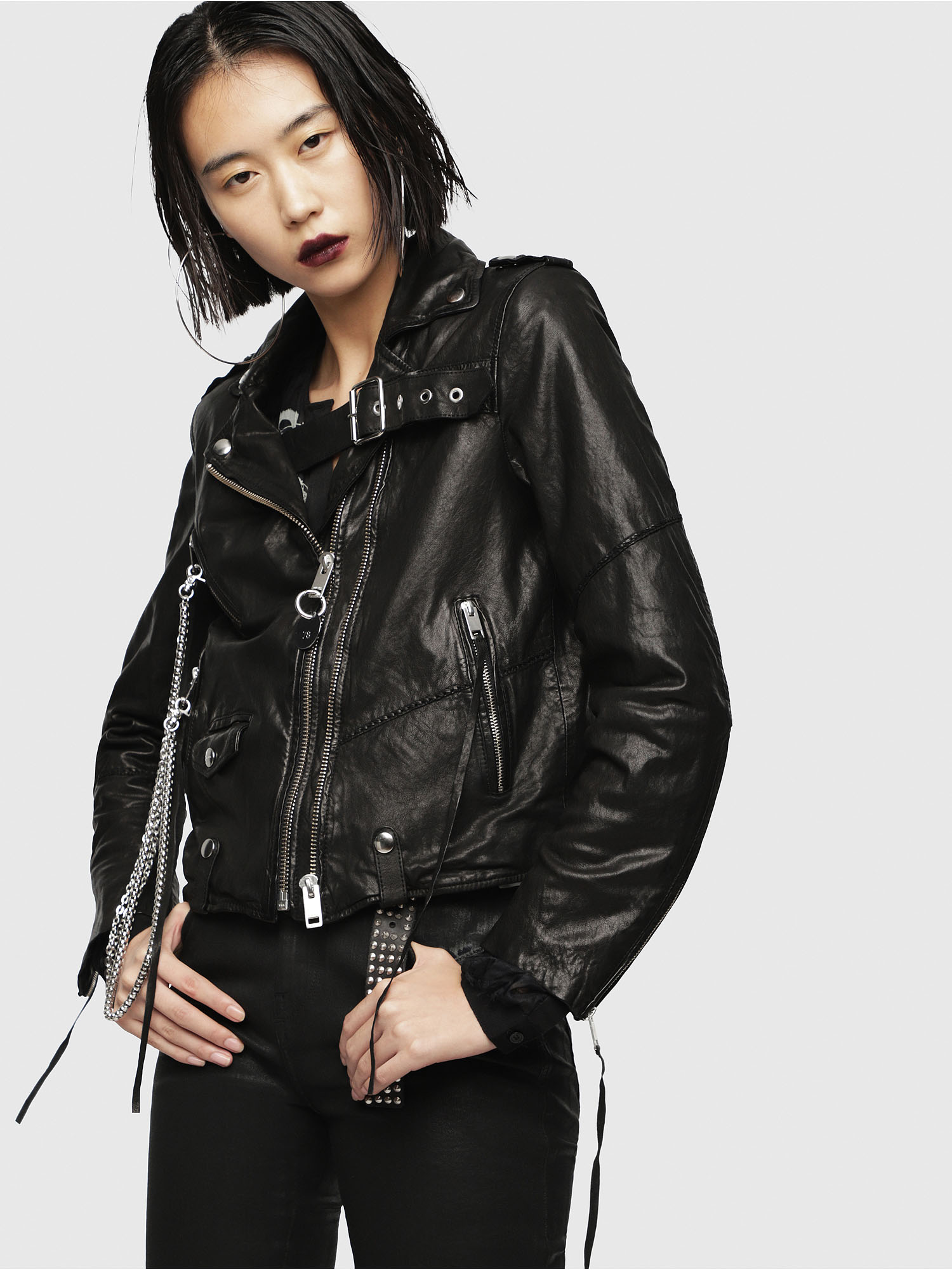 Diesel - L-TERRY-B,  - Leather jackets - Image 1